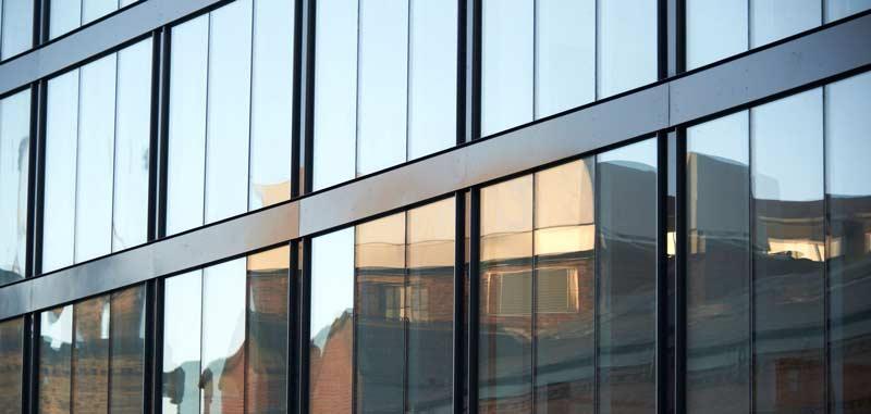 شیشه نمای ساختمان