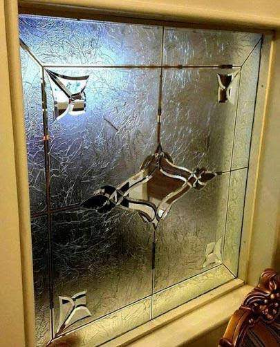 شیشه تزئینی دکوری