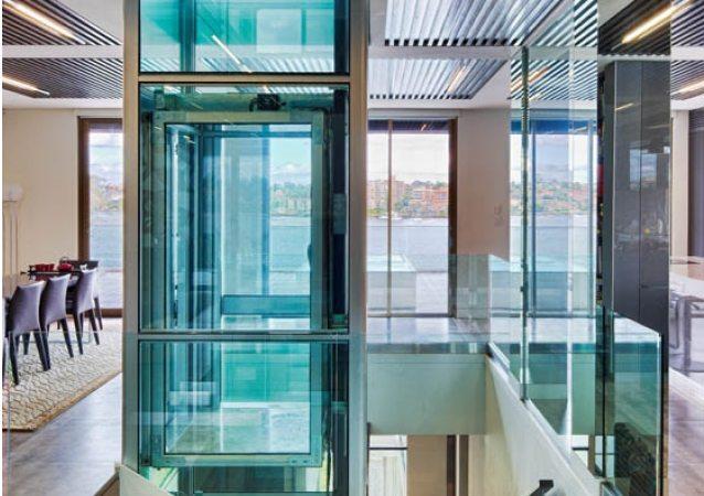 آسانسور شیشه ای خانگی