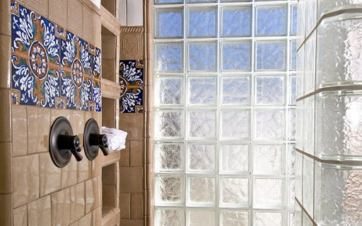 بلوک شیشه ای طرح دار